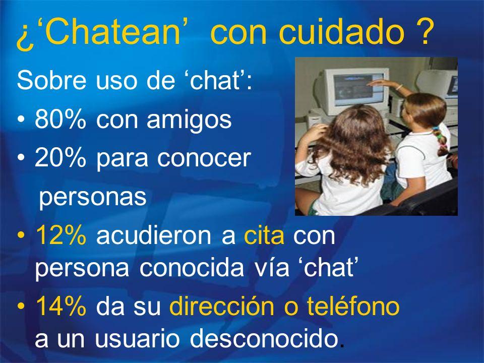 ¿'Chatean' con cuidado