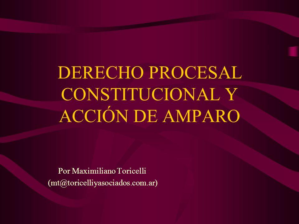 DERECHO PROCESAL CONSTITUCIONAL Y ACCIÓN DE AMPARO