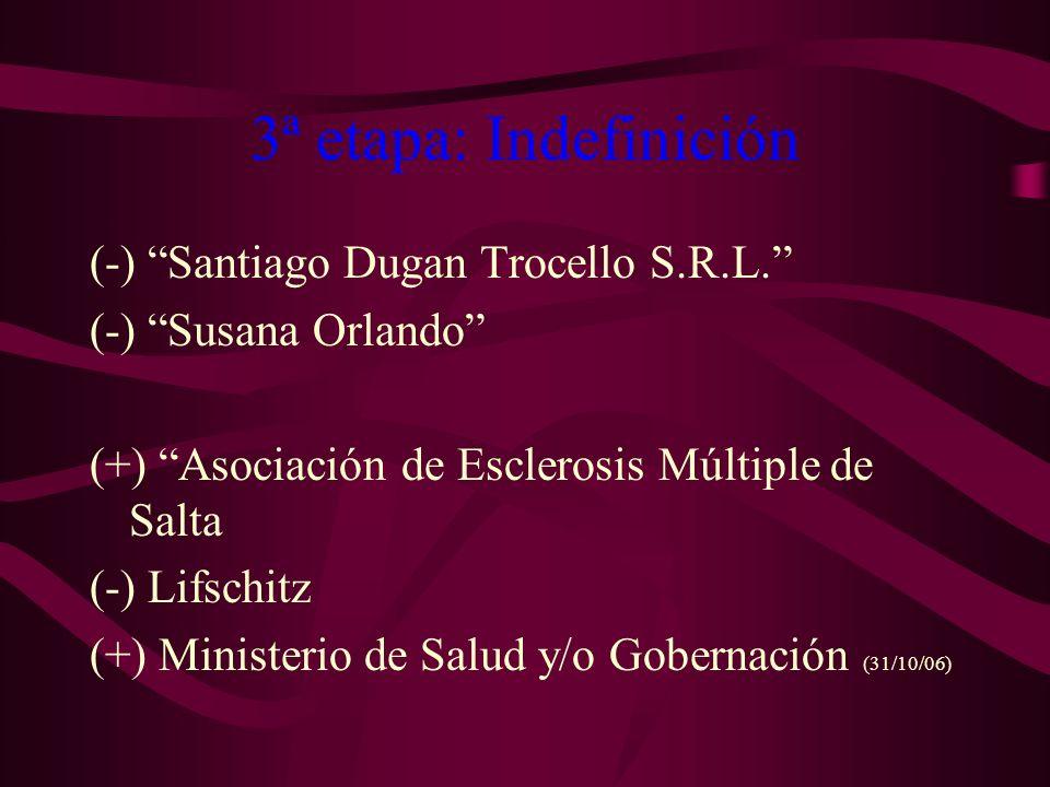 3ª etapa: Indefinición (-) Santiago Dugan Trocello S.R.L.