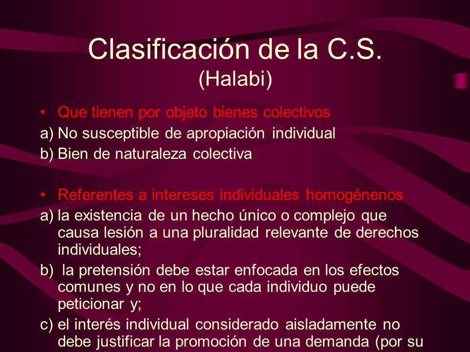 Clasificación de la C.S. (Halabi)