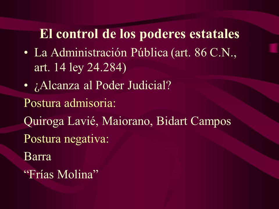 El control de los poderes estatales