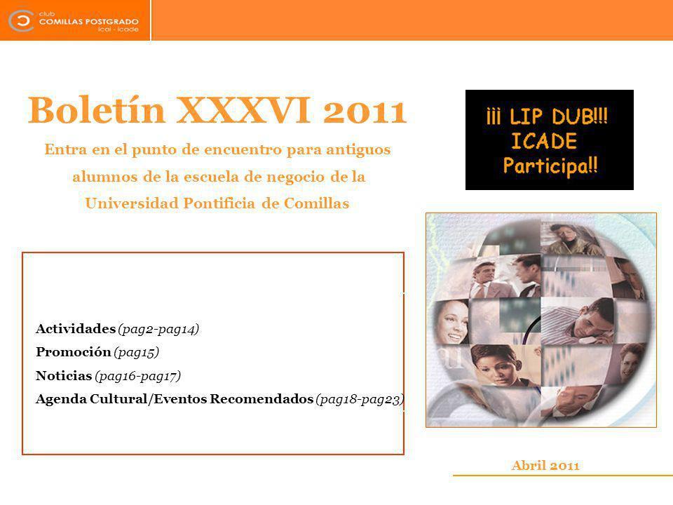 Boletín XXXVI 2011 Entra en el punto de encuentro para antiguos