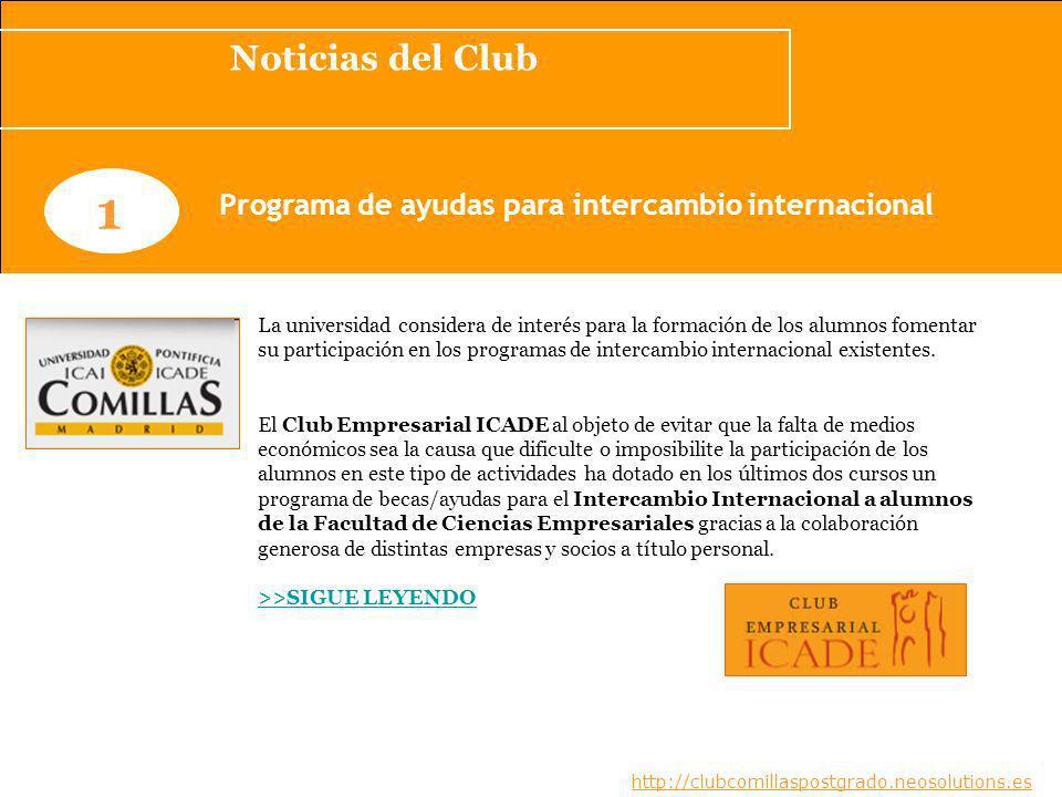Programa de ayudas para intercambio internacional