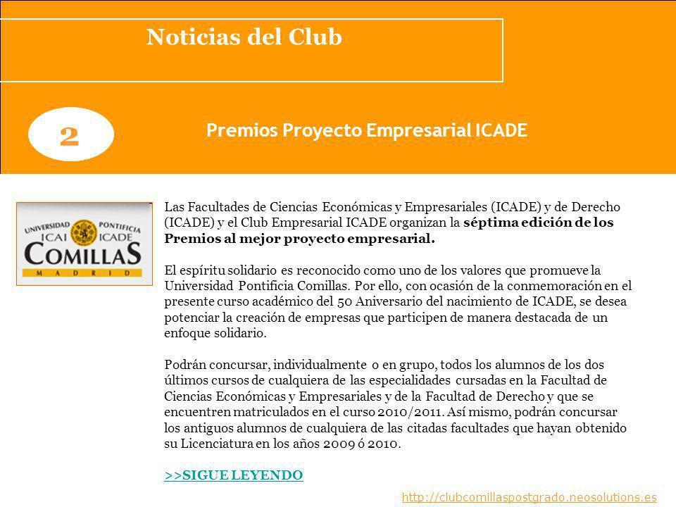 Premios Proyecto Empresarial ICADE
