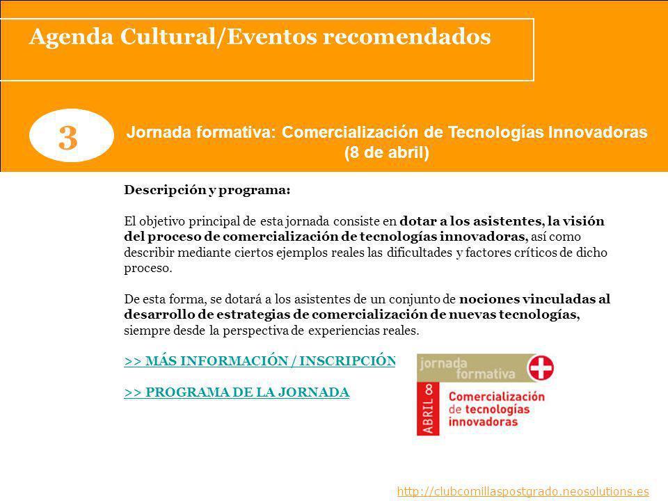 3 Agenda Cultural/Eventos recomendados