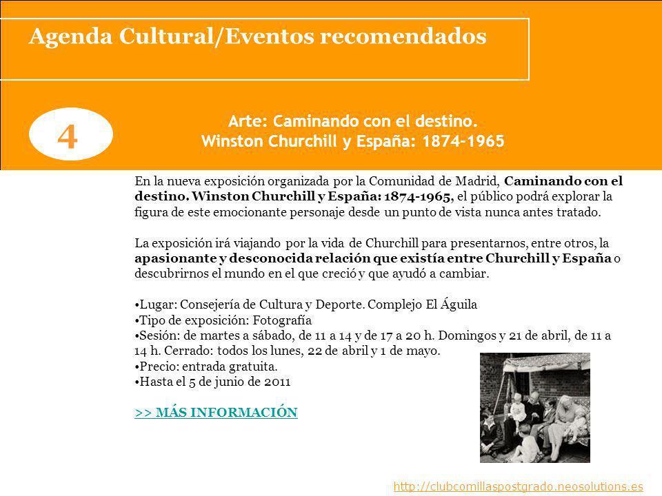 4 Agenda Cultural/Eventos recomendados Arte: Caminando con el destino.