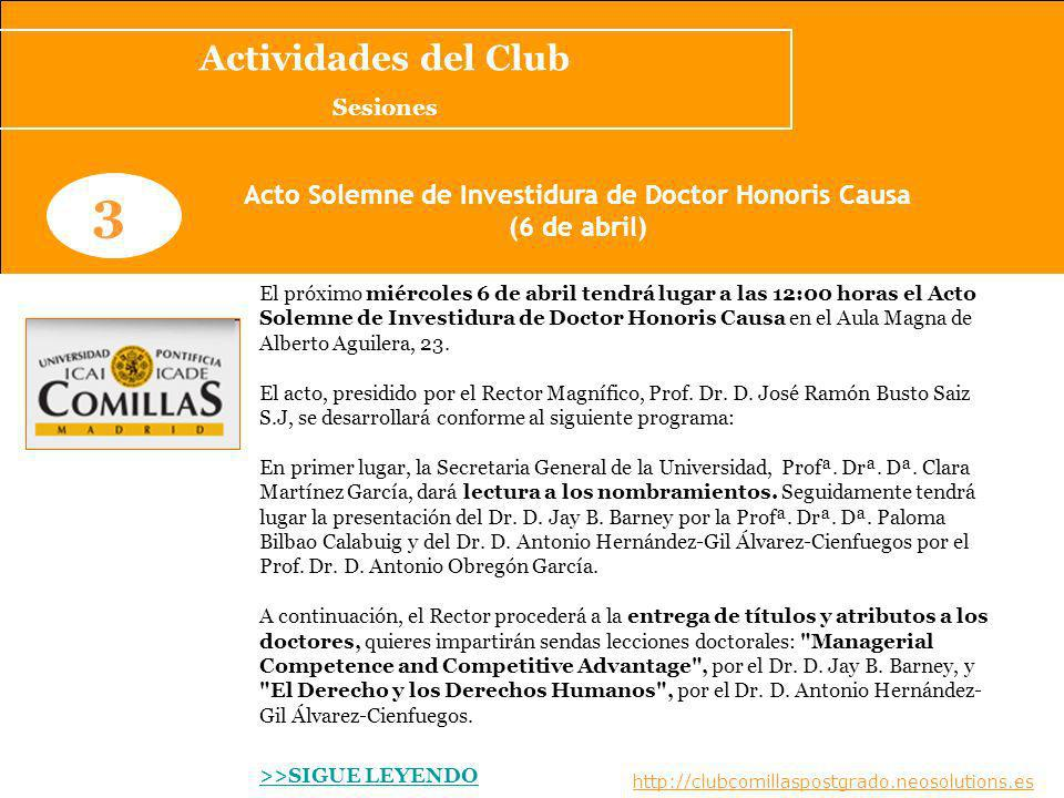 Acto Solemne de Investidura de Doctor Honoris Causa