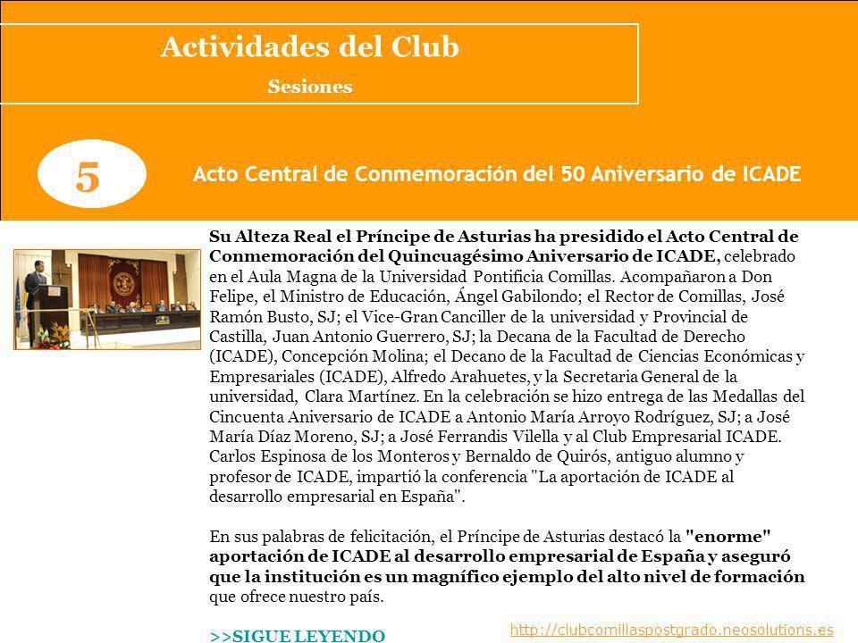 Acto Central de Conmemoración del 50 Aniversario de ICADE