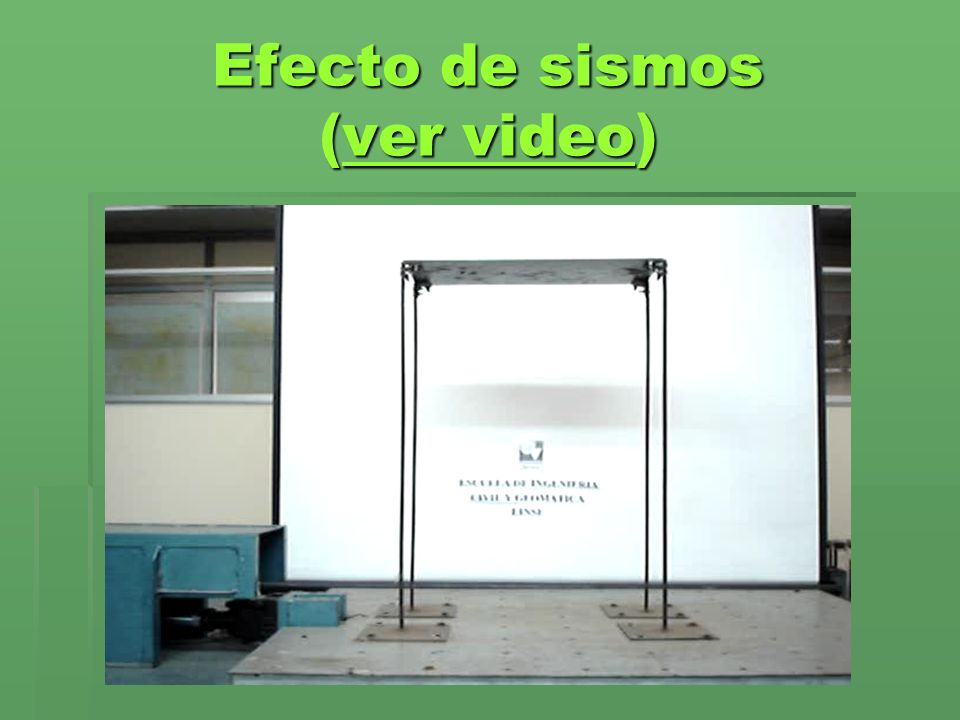 Efecto de sismos (ver video)