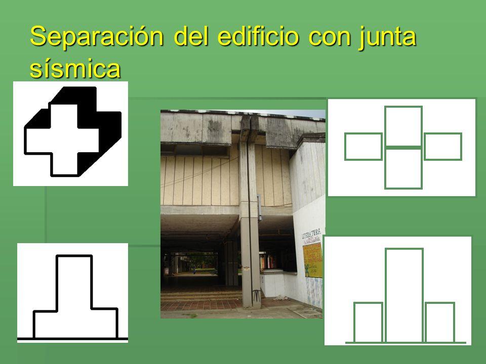 Separación del edificio con junta sísmica