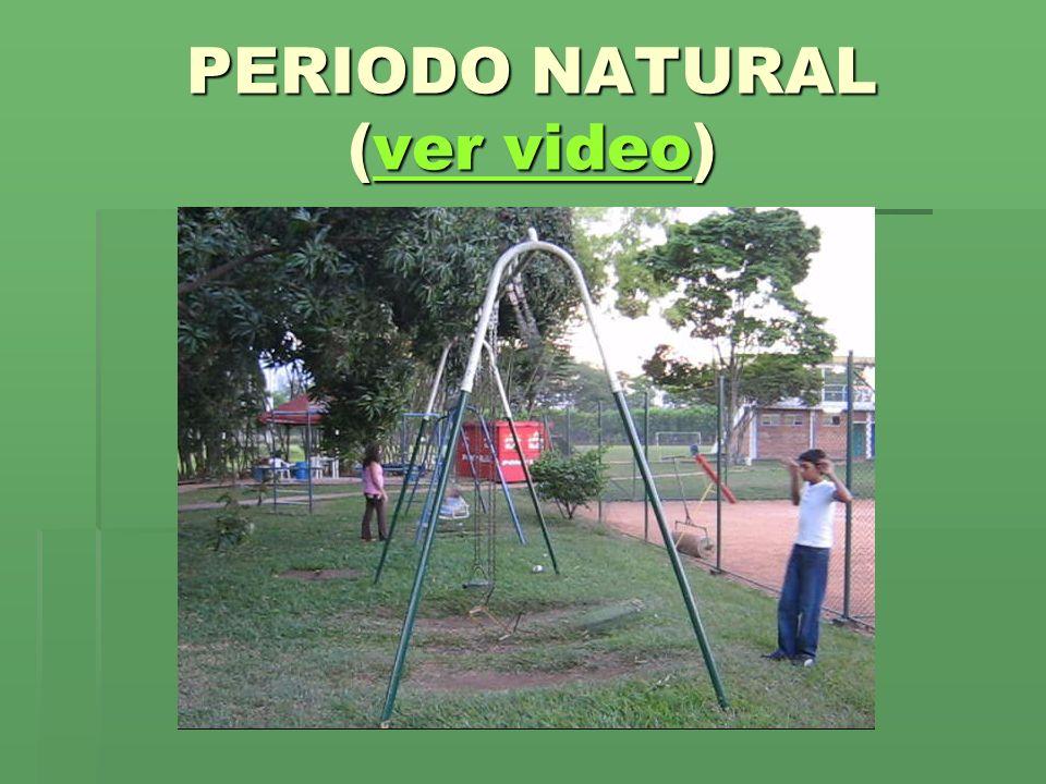 PERIODO NATURAL (ver video)