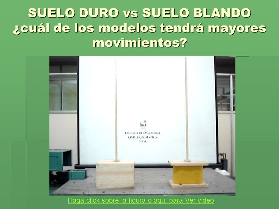 SUELO DURO vs SUELO BLANDO ¿cuál de los modelos tendrá mayores movimientos