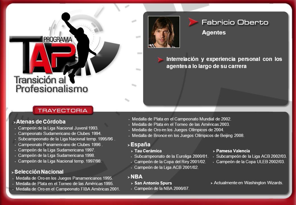 Agentes Interrelación y experiencia personal con los agentes a lo largo de su carrera. Medalla de Plata en el Campeonato Mundial de 2002.