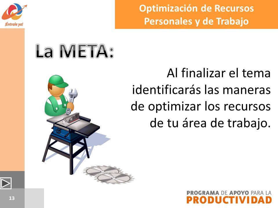 Optimización de Recursos Personales y de Trabajo