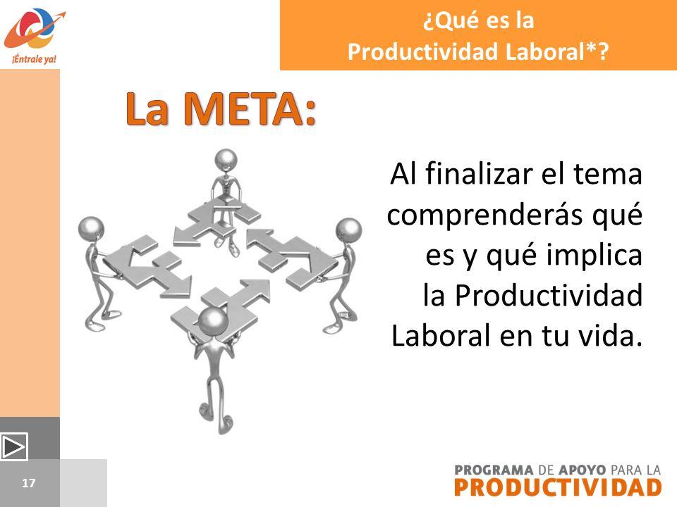 Productividad Laboral*