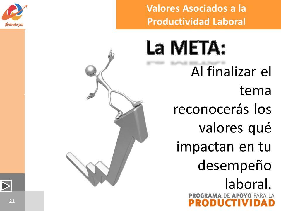 Valores Asociados a la Productividad Laboral