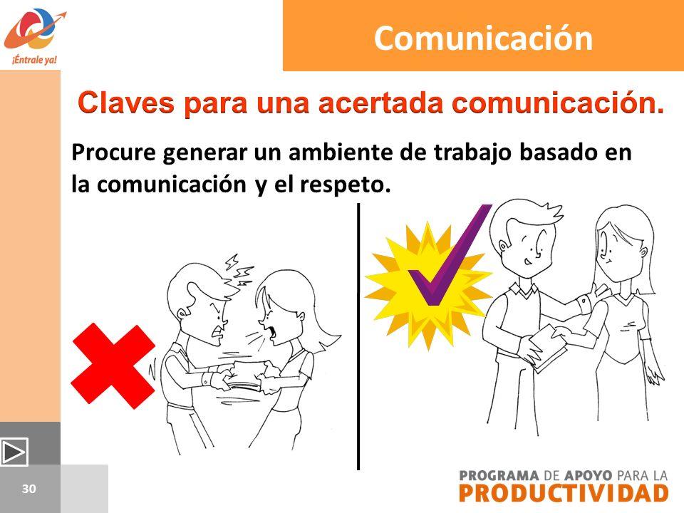 Claves para una acertada comunicación.