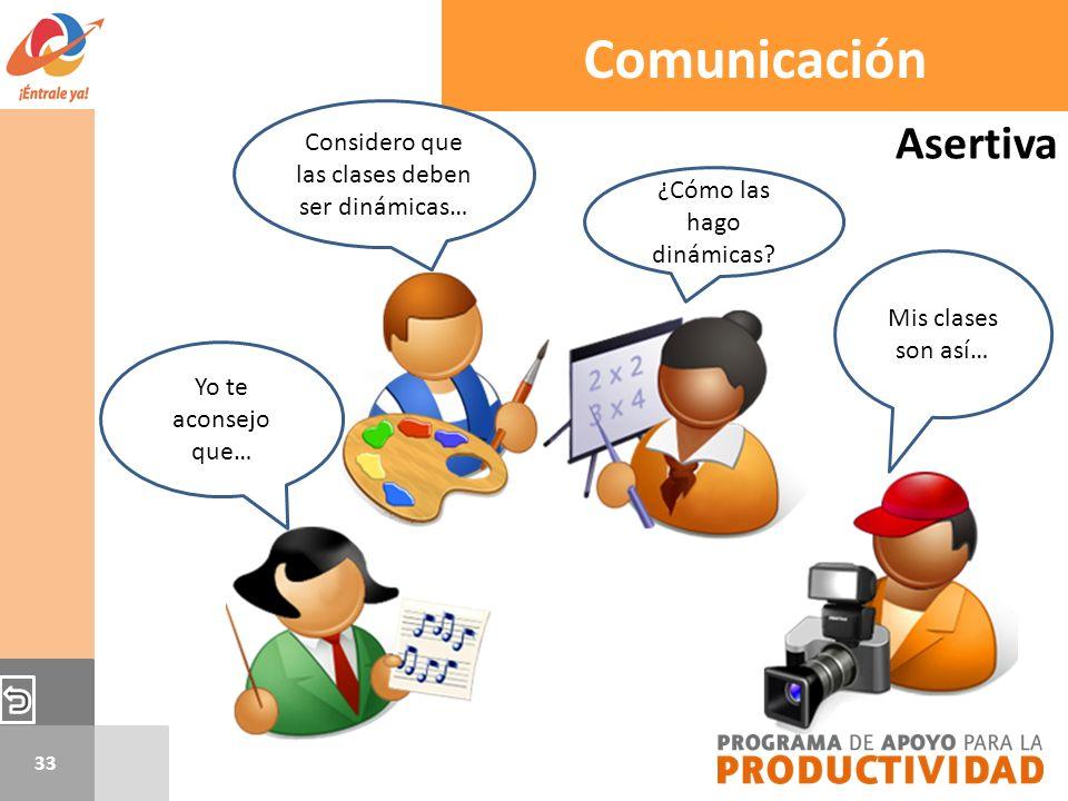 Comunicación Asertiva Considero que las clases deben ser dinámicas…