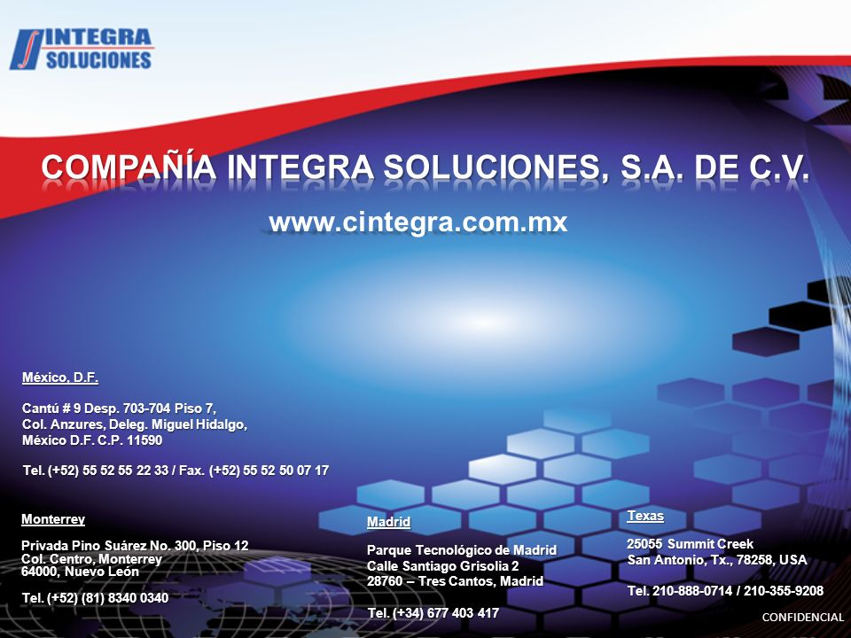 COMPAÑÍA INTEGRA SOLUCIONES, S.A. DE C.V.