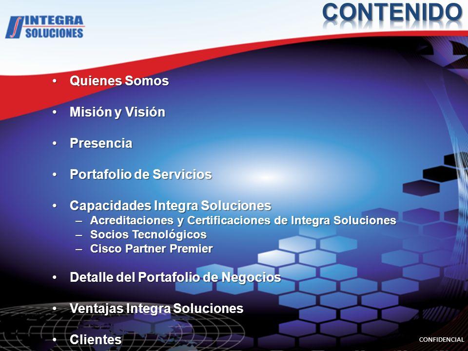 CONTENIDO Quienes Somos Misión y Visión Presencia