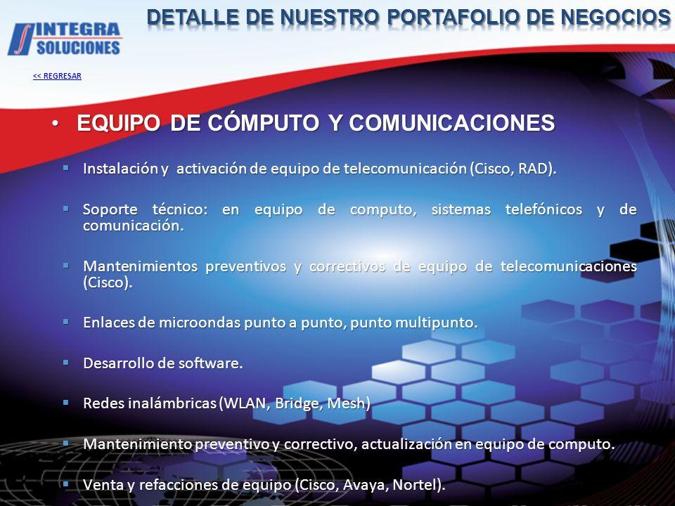 EQUIPO DE CÓMPUTO Y COMUNICACIONES