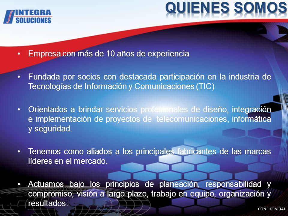 QUIENES SOMOS Empresa con más de 10 años de experiencia