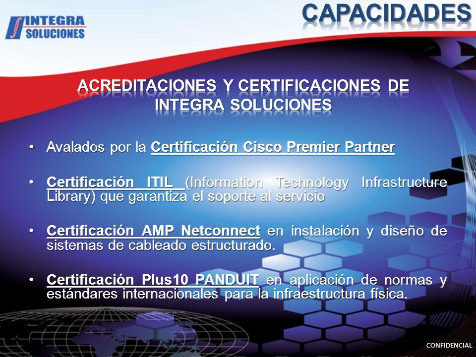 ACREDITACIONES Y CERTIFICACIONES DE INTEGRA SOLUCIONES