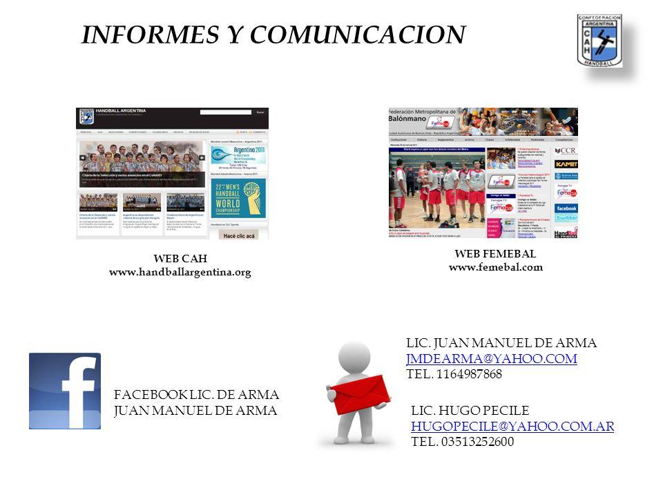 INFORMES Y COMUNICACION
