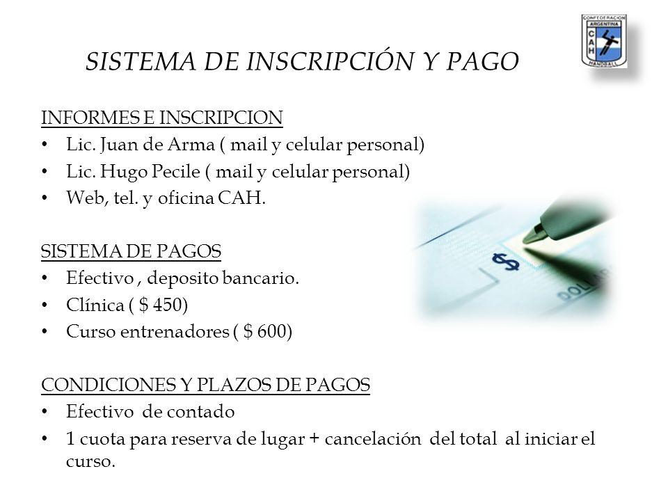SISTEMA DE INSCRIPCIÓN Y PAGO