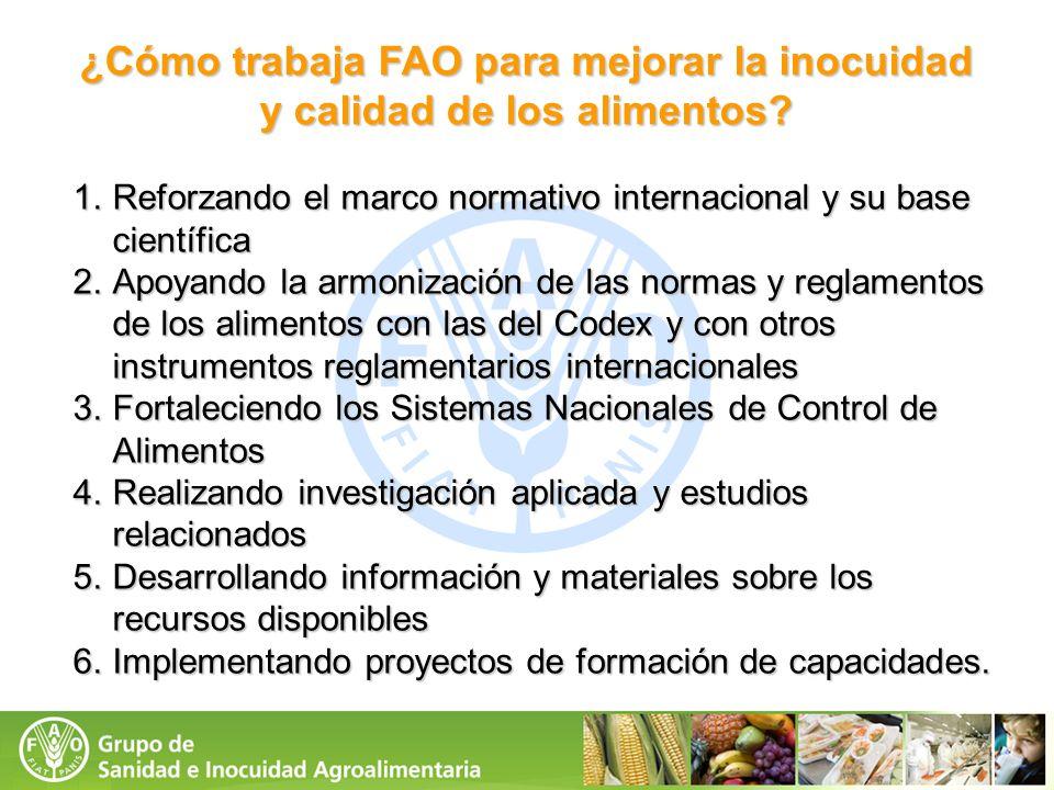 ¿Cómo trabaja FAO para mejorar la inocuidad y calidad de los alimentos