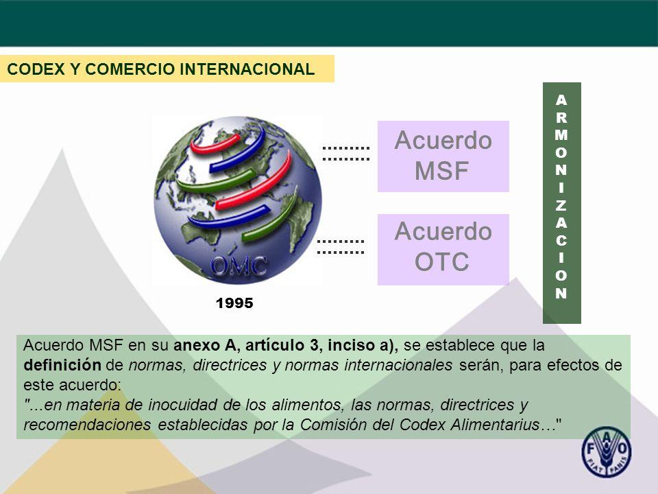 Acuerdo MSF Acuerdo OTC