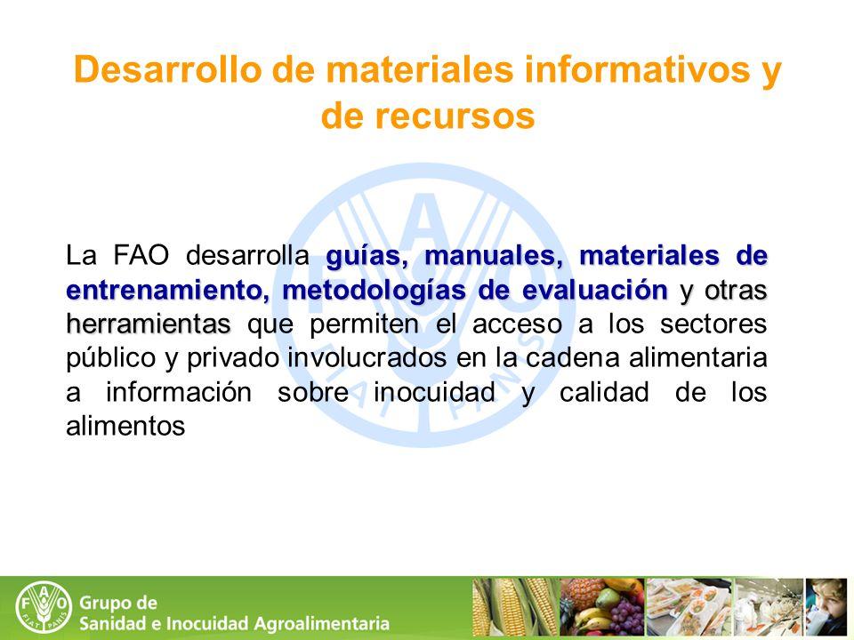 Desarrollo de materiales informativos y de recursos