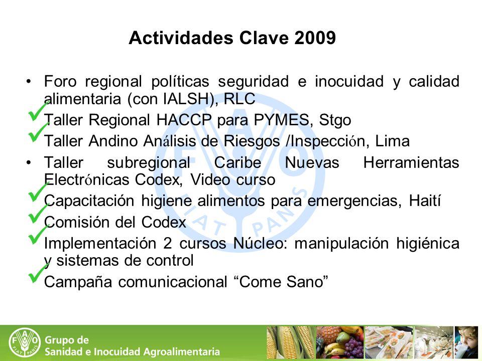 Actividades Clave 2009Foro regional políticas seguridad e inocuidad y calidad alimentaria (con IALSH), RLC.