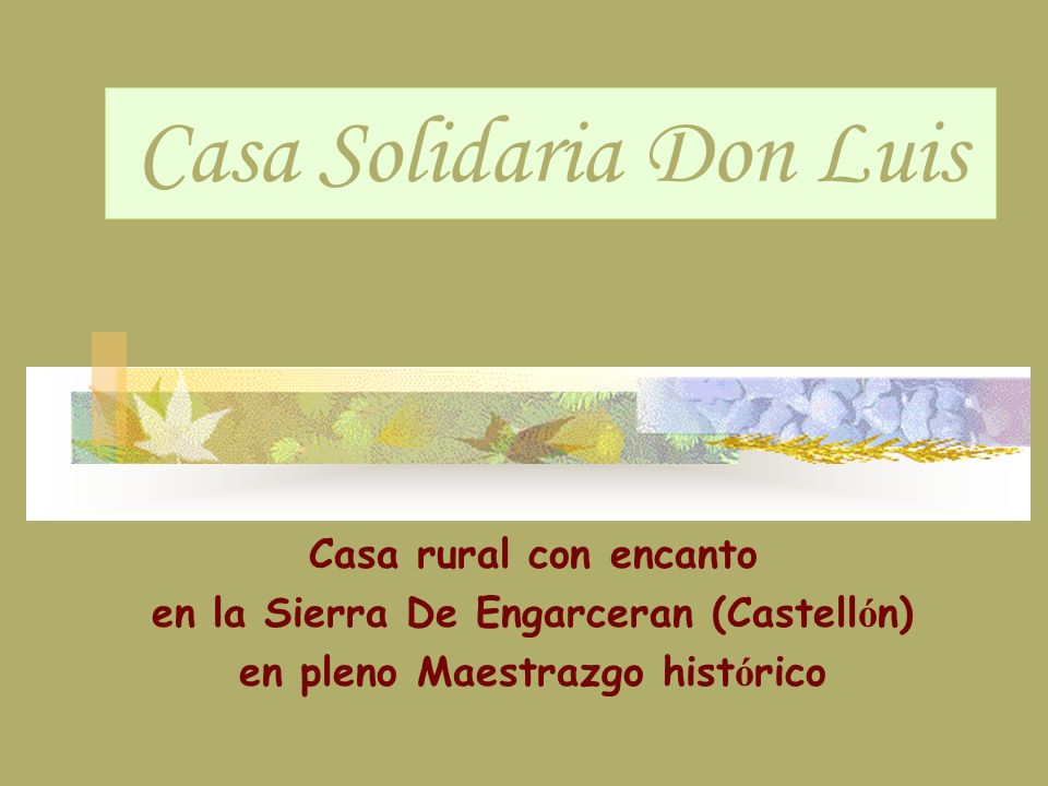 Casa Solidaria Don Luis