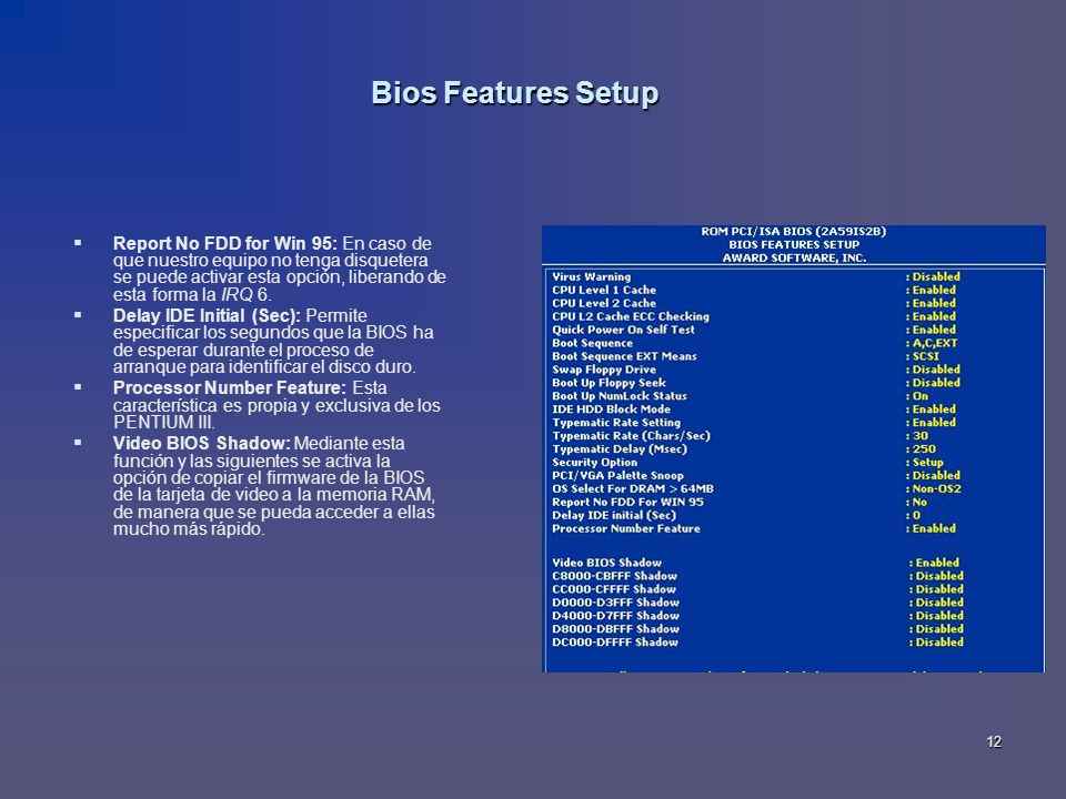 Bios Features Setup