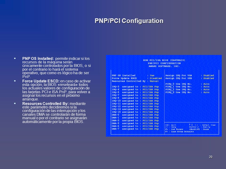 PNP/PCI Configuration