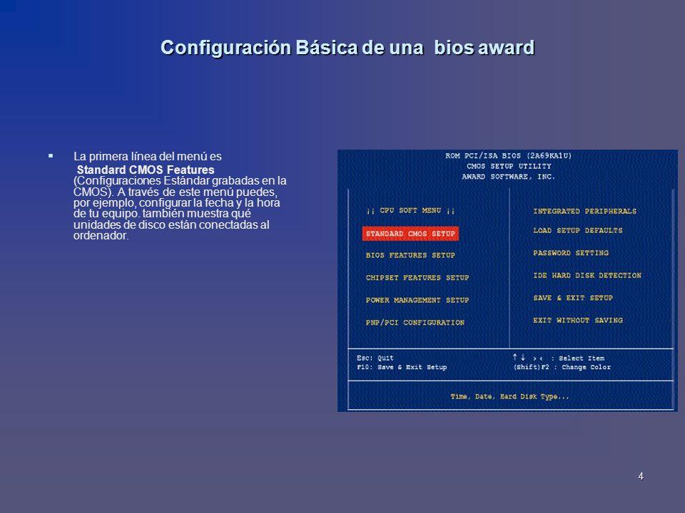 Configuración Básica de una bios award