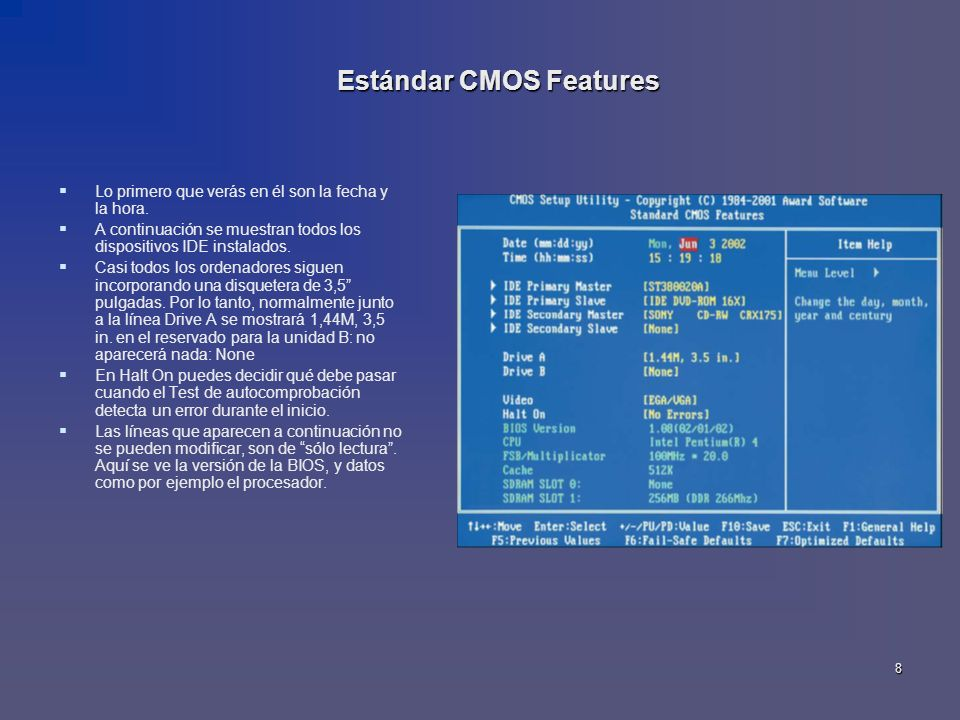 Estándar CMOS Features
