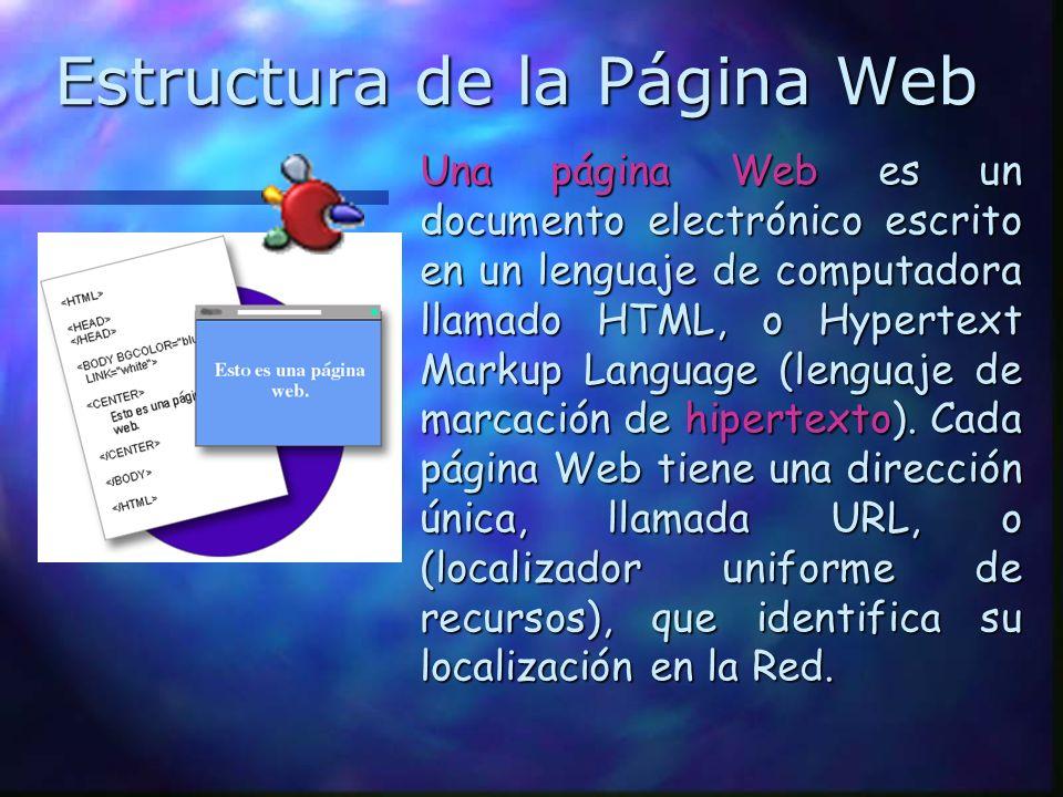 Estructura de la Página Web