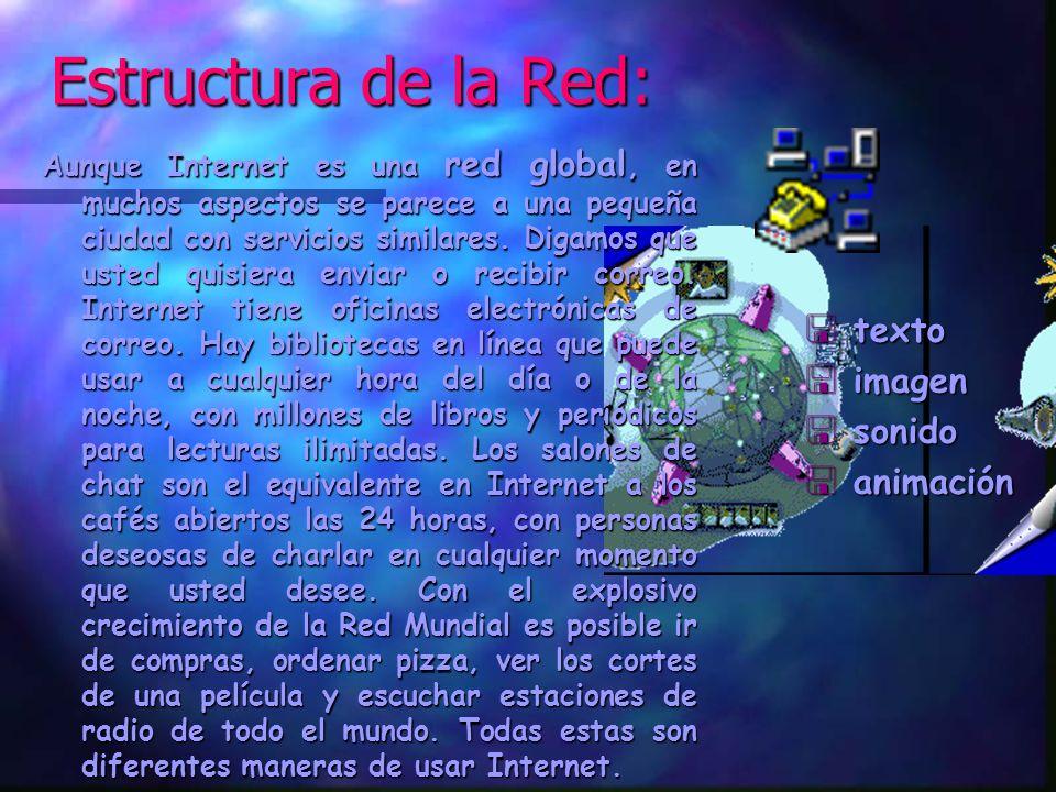 Estructura de la Red: texto imagen sonido animación