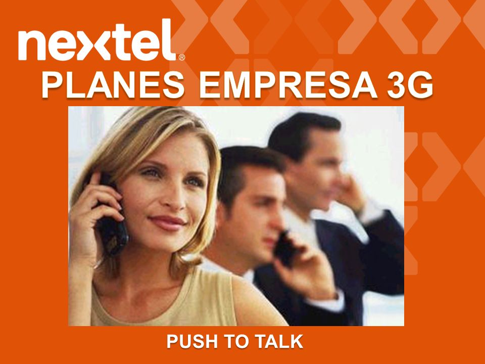 PLANES EMPRESA 3G PUSH TO TALK