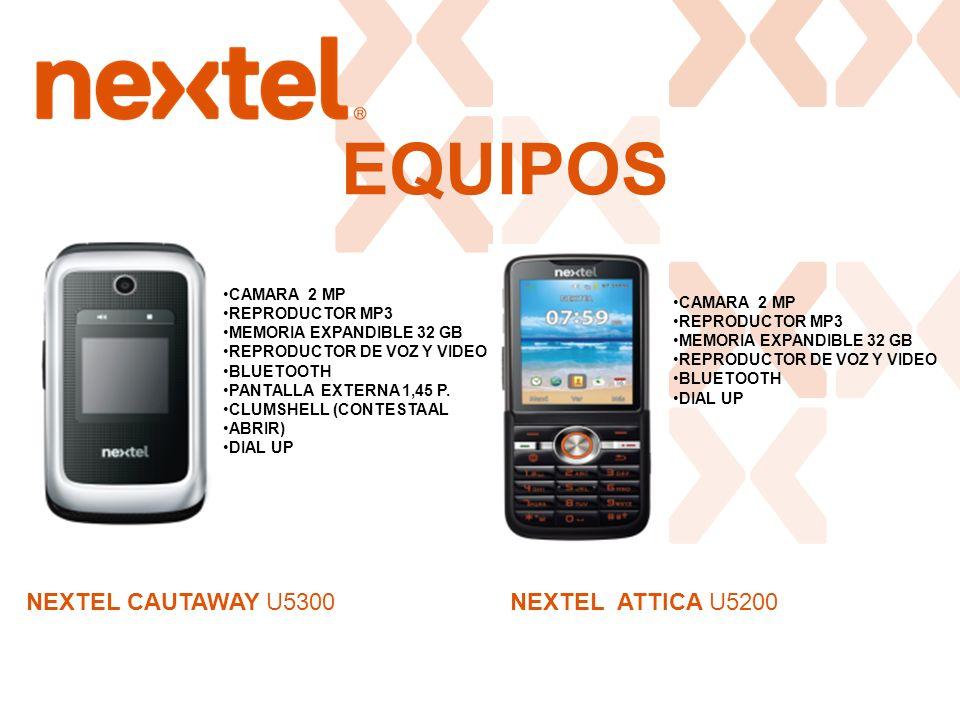 EQUIPOS NEXTEL CAUTAWAY U5300 NEXTEL ATTICA U5200 CAMARA 2 MP