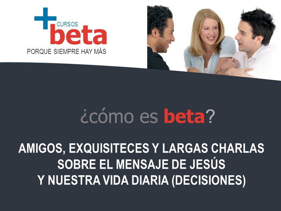 ¿cómo es beta AMIGOS, EXQUISITECES Y LARGAS CHARLAS