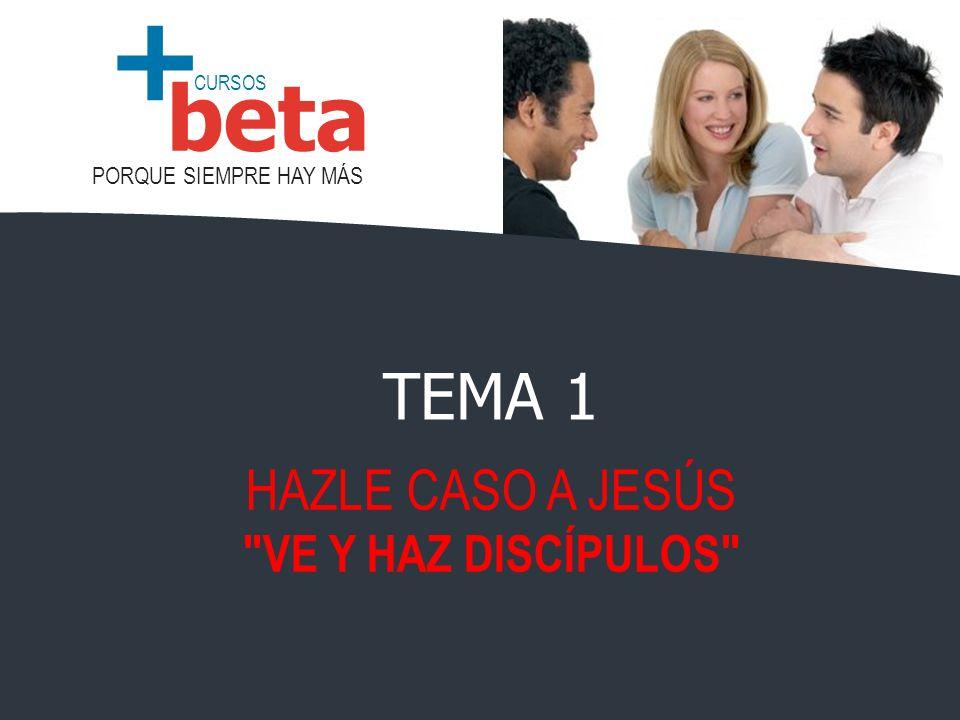 TEMA 1 HAZLE CASO A JESÚS VE Y HAZ DISCÍPULOS
