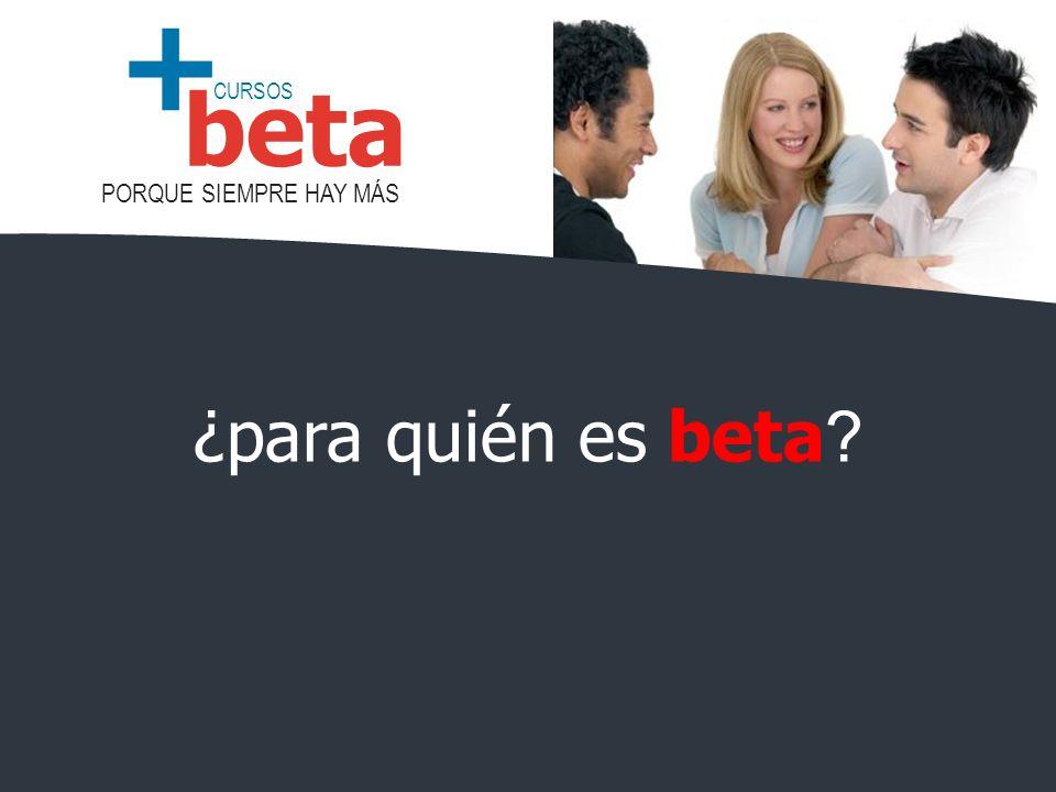 ¿para quién es beta