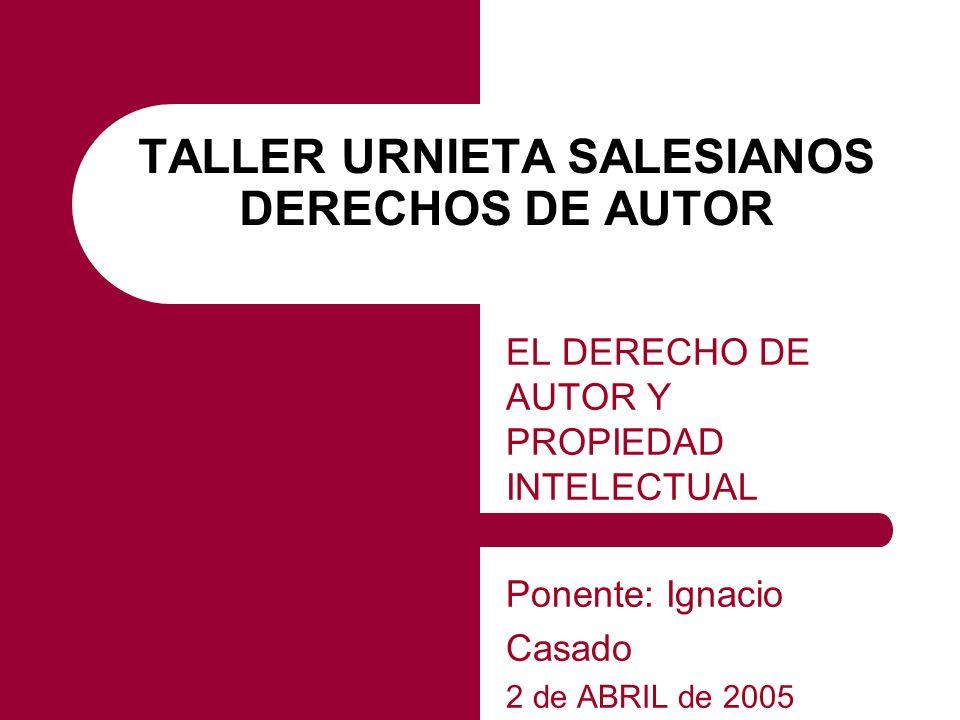 TALLER URNIETA SALESIANOS DERECHOS DE AUTOR