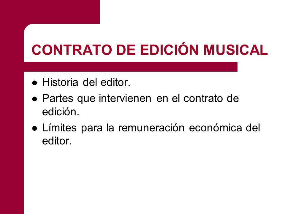 CONTRATO DE EDICIÓN MUSICAL