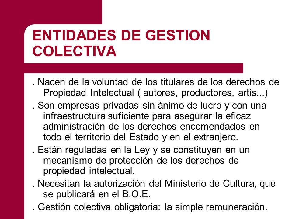 ENTIDADES DE GESTION COLECTIVA