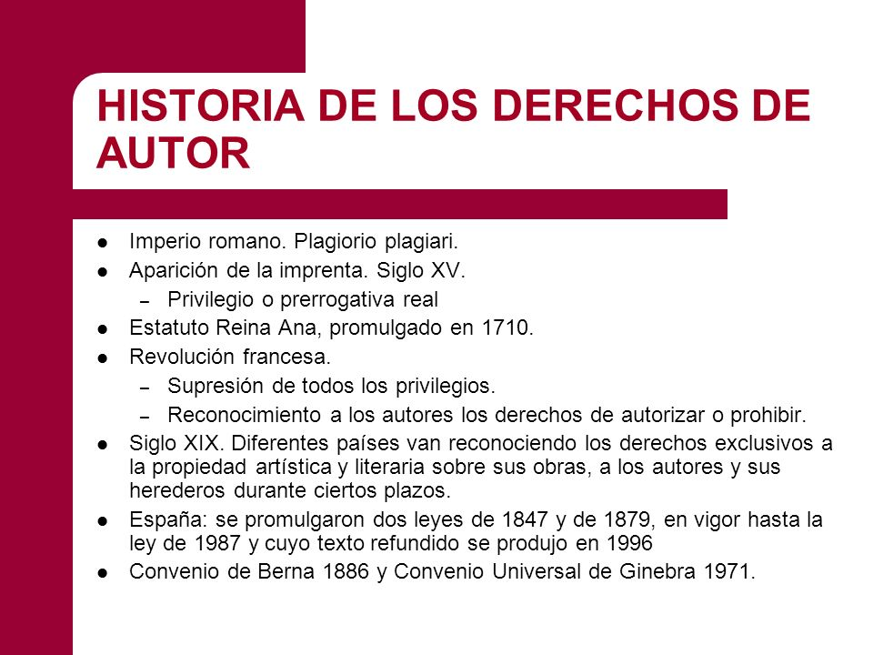 HISTORIA DE LOS DERECHOS DE AUTOR