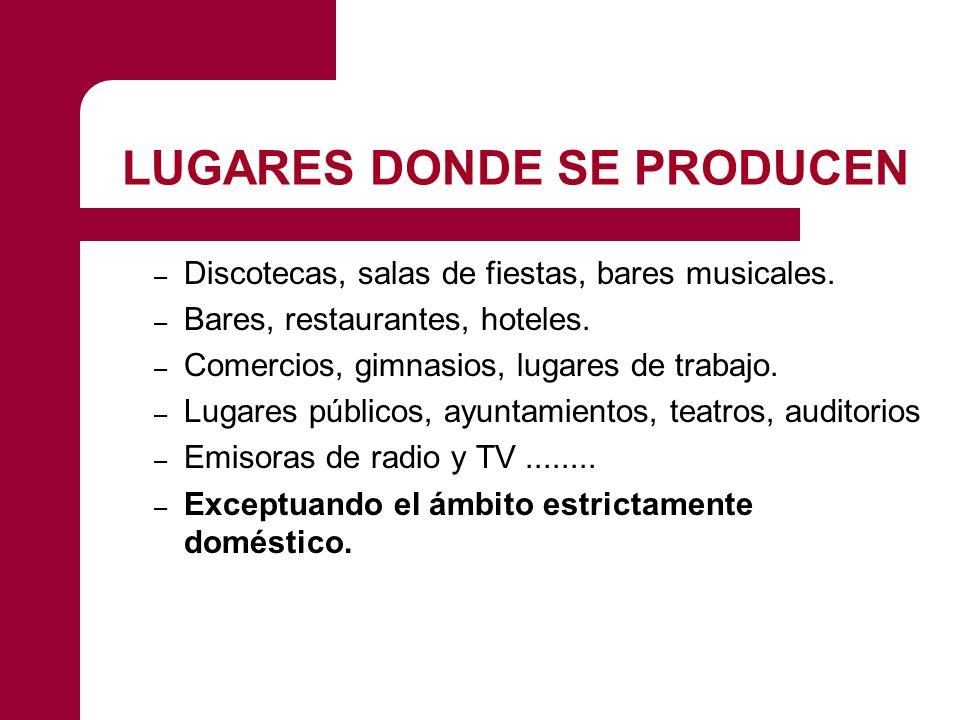 LUGARES DONDE SE PRODUCEN